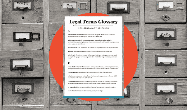 Legal terms glossary for genealogy records free download from Family Tree Magazine