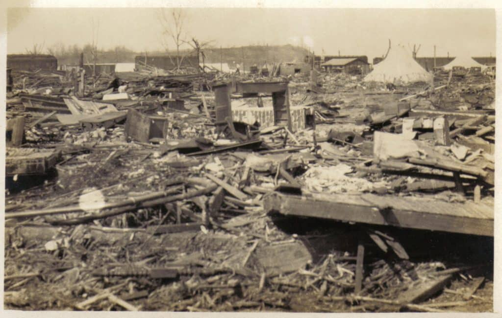 Rubble in Griffin, Indiana