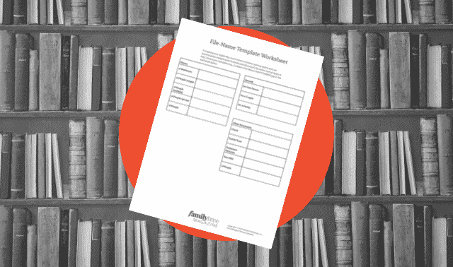 Free File-Name Template Worksheet