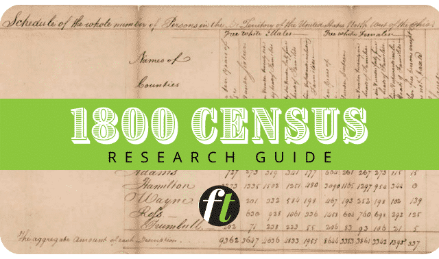 1800 census records research guide from Family Tree Magazine