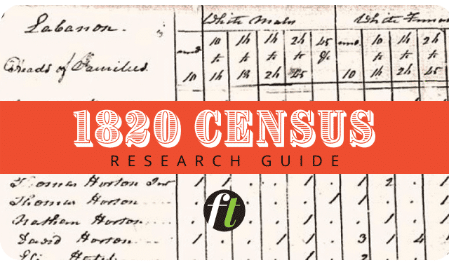1820 census records research guide from Family Tree Magazine