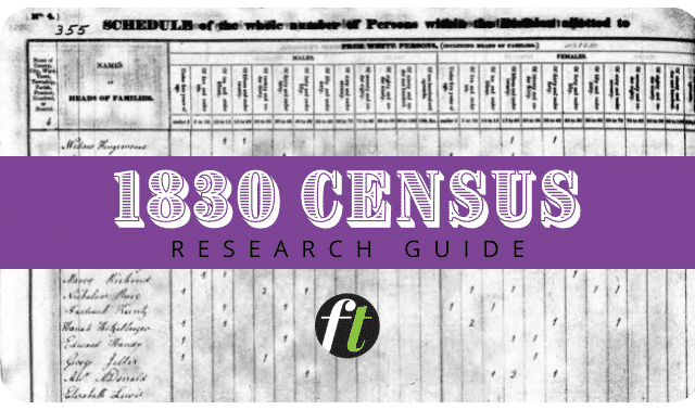 1830 Census Records Guide from Family Tree Magazine