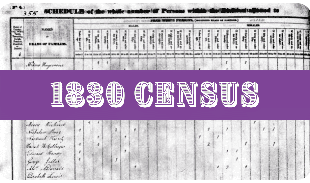 1830 Census and image of record