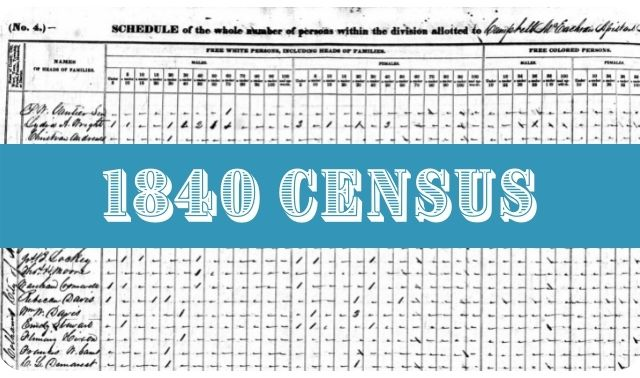 1840 Census Records Research Guide cover