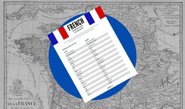 French genealogy word list