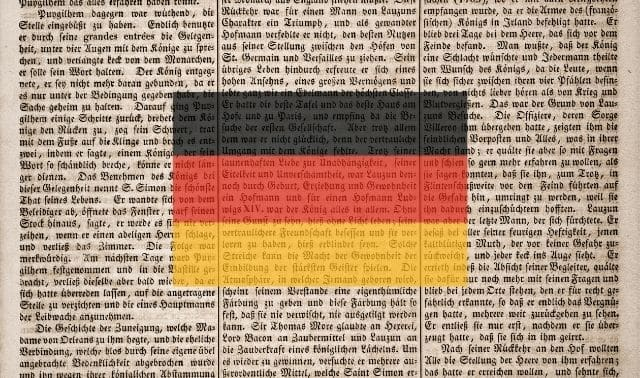 Text written in German script with German flag overlay
