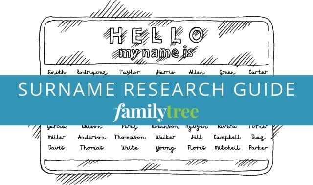 Surname research guide from Family Tree Magazine