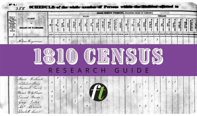 1810 Census Records Research Guide from Family Tree Magazine