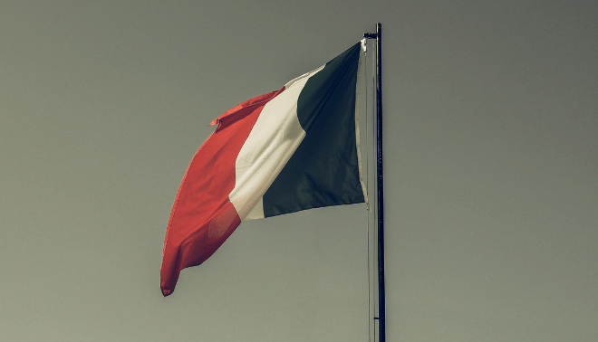 Italian flag with a vintage filter.