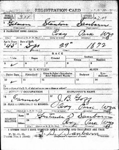 World War Military Record