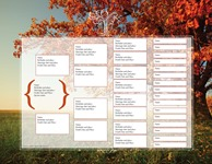 Family Tree Template #1: Autumn Design Family Tree Template