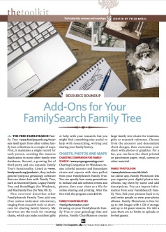 FamilySearch Family Tree Add-Ons